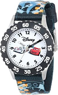 Disney Kids' W000370 Time Teacher Cars Stainless Steel Watch With Printed Band
