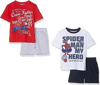 Marvel 男童蜘蛛侠睡衣套装,多色(白色和红色白色/蓝色),(尺码:3 岁)(2 件装)