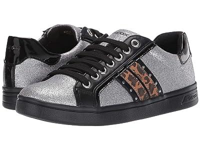 Geox Kids Jr Djrock 39 (Big Kid) (Silver) Girls Shoes