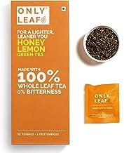 Onlyleaf Green Tea - Honey Lemon, 25 Bags (2 Free Exotic Samples)