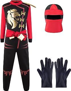 Katara- Disfraz de Ninja Dragón para Niño Carnaval, Cosplay, Color rojo kai, Talla l (8-10 años) (1771)