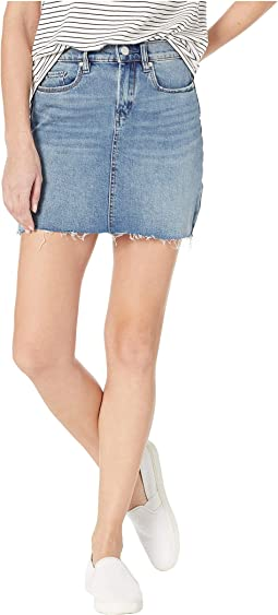 Denim Mini Skirt in Two Faced