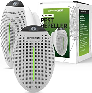 2019 Ultrasonic Pest Repeller Plug in - 2 Pack - Human Electronic Pet Safe Device - Eco-Friendly Electromagnetic Waves Ultrasound Control - Repellent for Mice Rats Mosquitos Spiders Rodents Insects