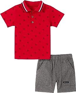 Calvin Klein Baby-Boys 2 Pieces Polo Shorts Set