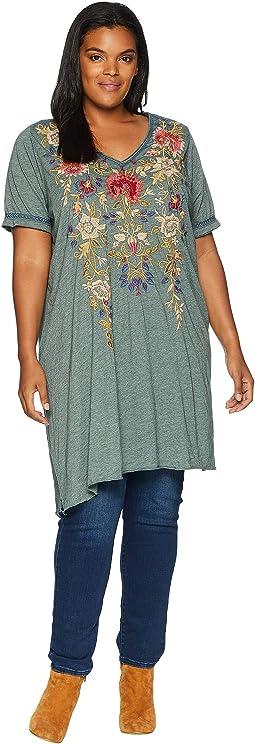 Plus Size Simona Drape Tunic Dress