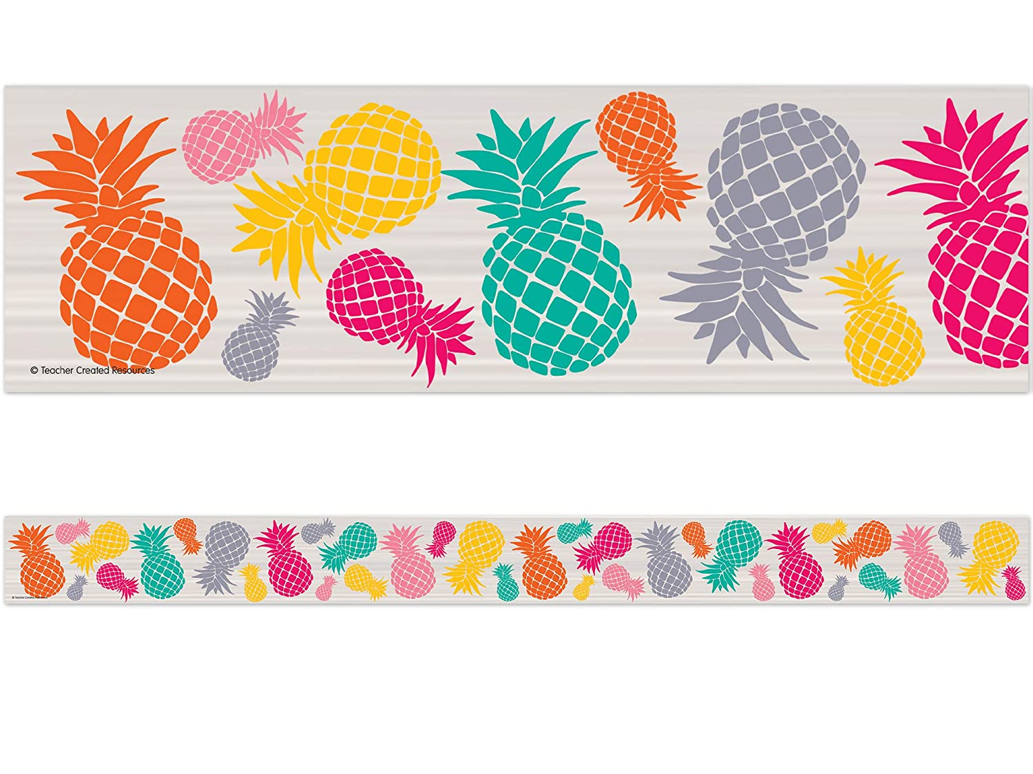 Teacher Created Resources 2157 Spring new work Large discharge sale Straigh Punch Pineapples Tropical