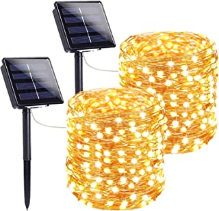Extra-Long Solar String Lights Outdoor, 2-Pack Each 72FT 200 LED Super Bright Solar Lights Outdoor, Waterproof Copper Wire...