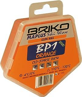 Briko-Maplus Bp1 Orange Base Paraffin Ski and Snowboard Solid Wax (100 Grams)
