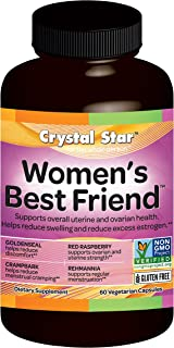 Crystal Star - Women's Best Friend - Monthly Menstrual Support - 60 Vegetarian Capsules