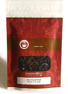 Sponsored Ad - Mahamosa Black Currant Fruit Tea 2 oz, Herbal Fruit Tea Blend Loose Leaf (with elderberry, grapes, hibiscus...