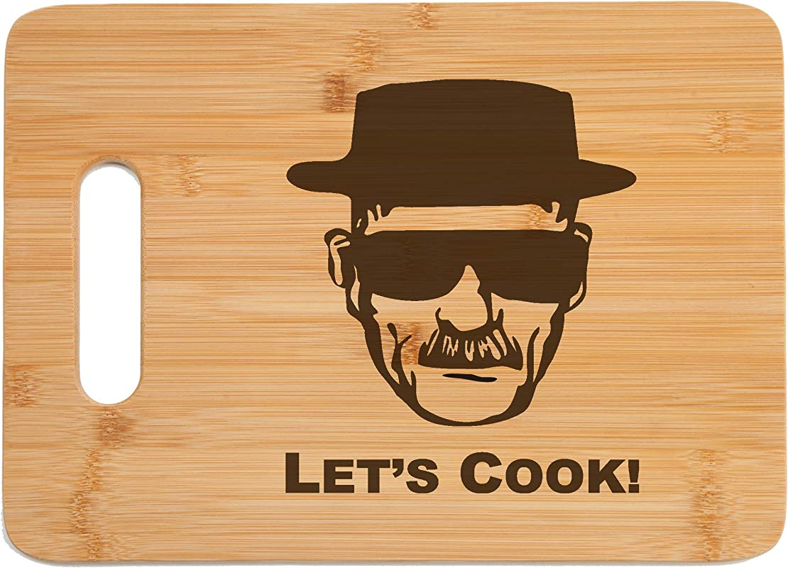 Breaking Bad Engraved Bamboo Wood Cutting Board With Handle Funny Gift For Father S Day Birthday Christmas
