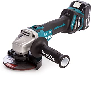 Makita DGA513RTJ 18V Li-ion LXT Brushless 125mm Angle Grinder Complete with 2 x 5.0 Ah Li-ion Batteries and Charger Suppli...