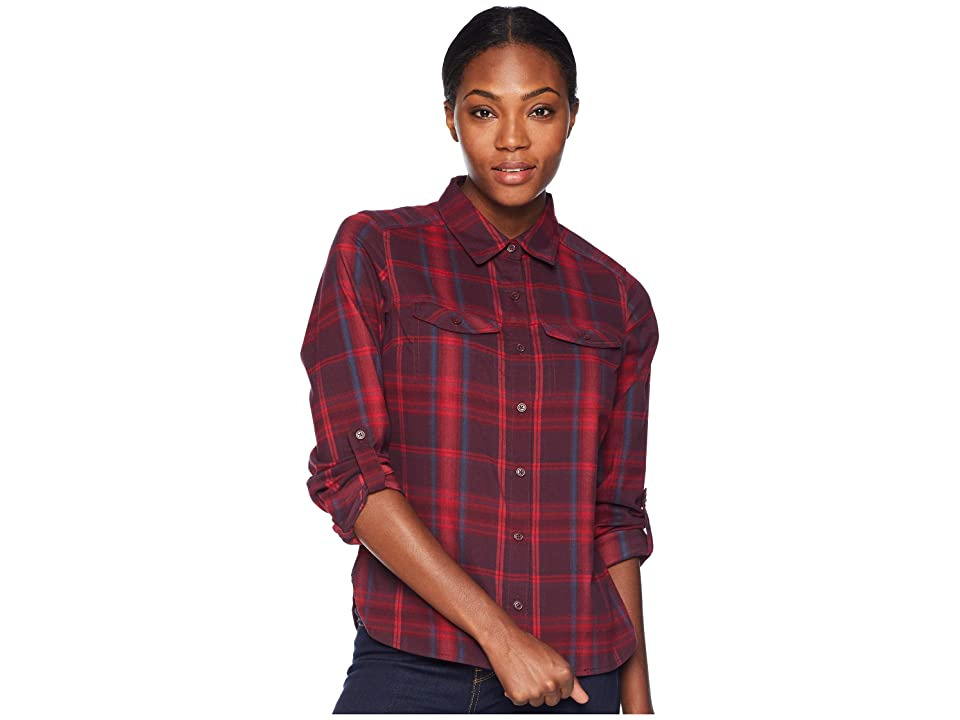 Columbia Silver Ridge Long Sleeve Flannel Shirt (Rich Wine Ombre Window Plaid) Women