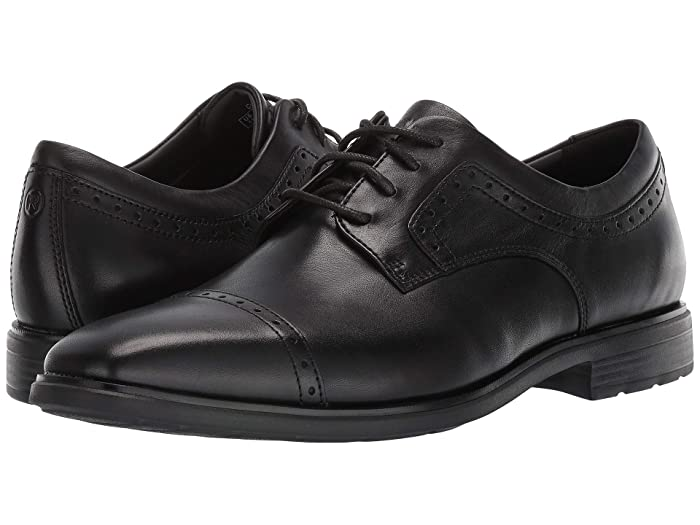 Rockport  DresSports Business 2 Cap Toe (Black Glass) Mens Shoes
