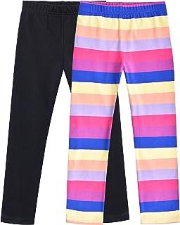 Sunny Fashion Chicas Pantalones 3 Paquetes Algodón Polainas Encaje Elástico niños Niñito 2-6 años