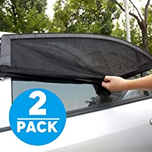 Jestar 2 Pack Car SUV Screen Cover Sunshade Protector for Baby Premium Rear Side Window Sun Visor Shade Mesh Cover Shield Sunshade UV Protector, Universal Fit Car Trucks and SUV etc