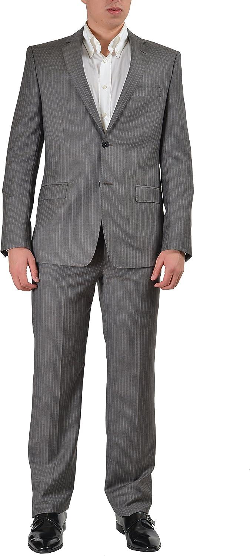 Versace Collection Men's Multi-Color Wool Striped Two Button Suit US 38 IT 48