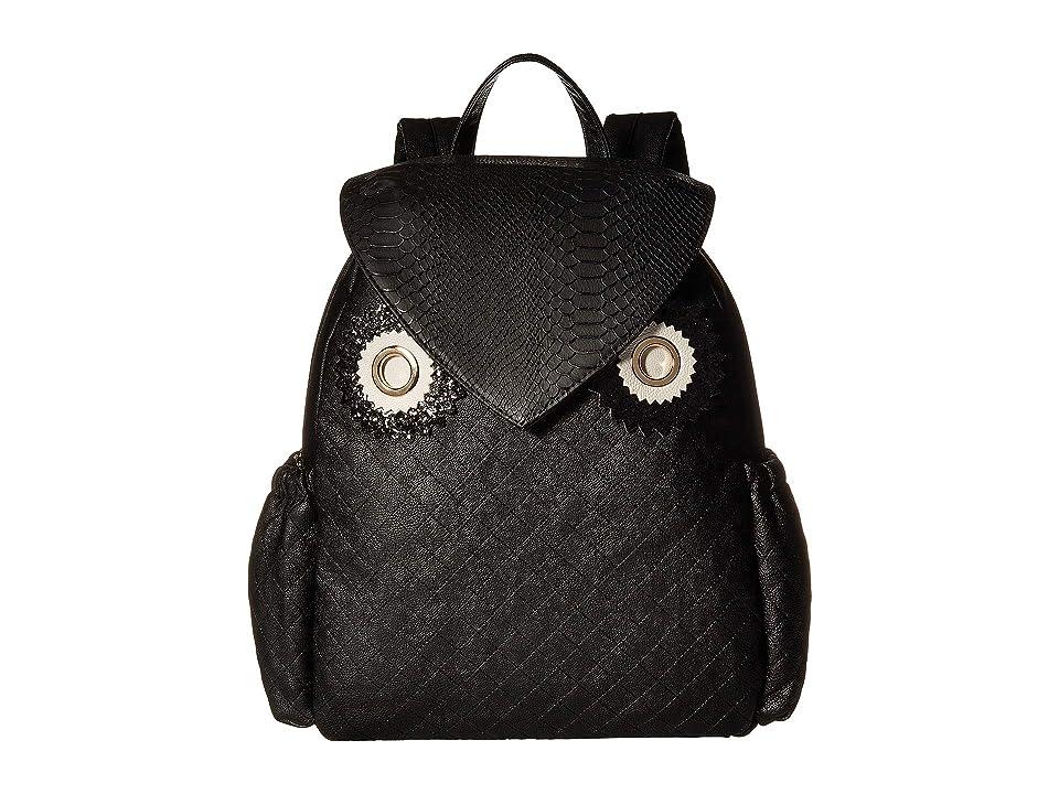 Betsey Johnson Owl Backpack (Black) Backpack Bags