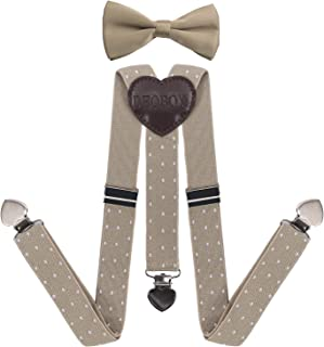 DEOBOX Little Boys' Suspenders and Bow Tie Set wedding 30