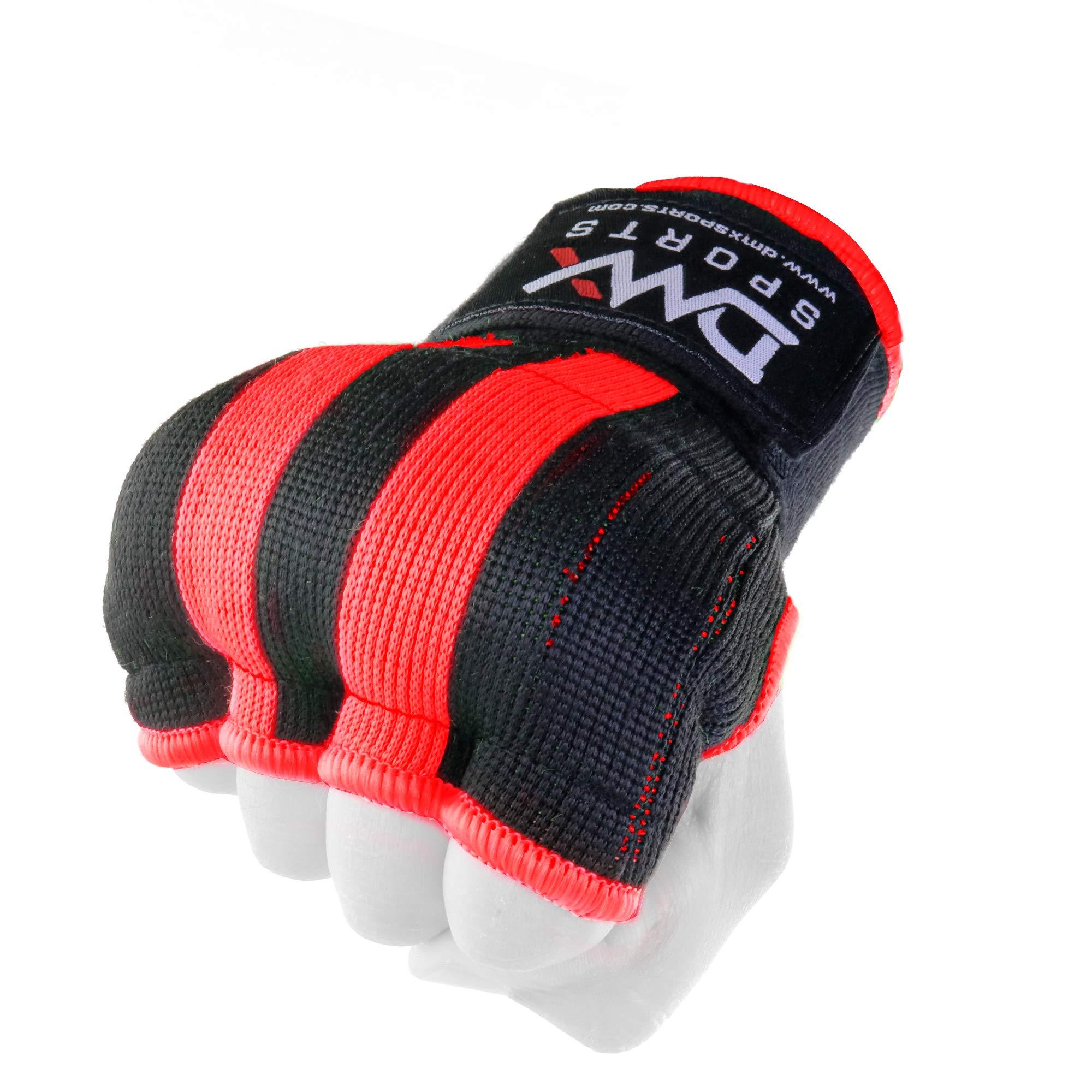 DMX - Guantes de Entrenamiento con Interior Acolchado de Gel para Boxeo y Artes Marciales Mixtas, XXL, Negro/Rojo: Amazon.es: Deportes y aire libre