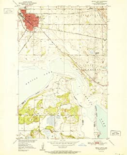 North Dakota Maps - 1951 Devils Lake, ND USGS Historical Topographic Map - Cartography Wall Art - 44in x 55in