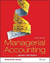 managerial accounting jiambalvo 6th edition