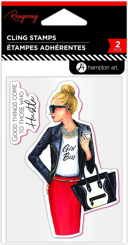 Hampton Art RongRong Cling Stamp Ambition New Black