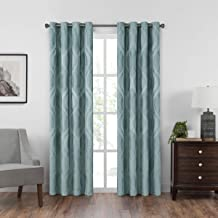 "Eclipse Caprese 52"" x 84"" Insulated Darkening Single Panel Grommet Top Window Treatment Living Room, 52x84, Spa"