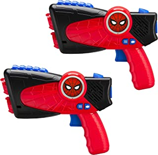 Marvel Spiderman Far From Home Laser-Tag Infared Blasters, Lights Up & Vibrates