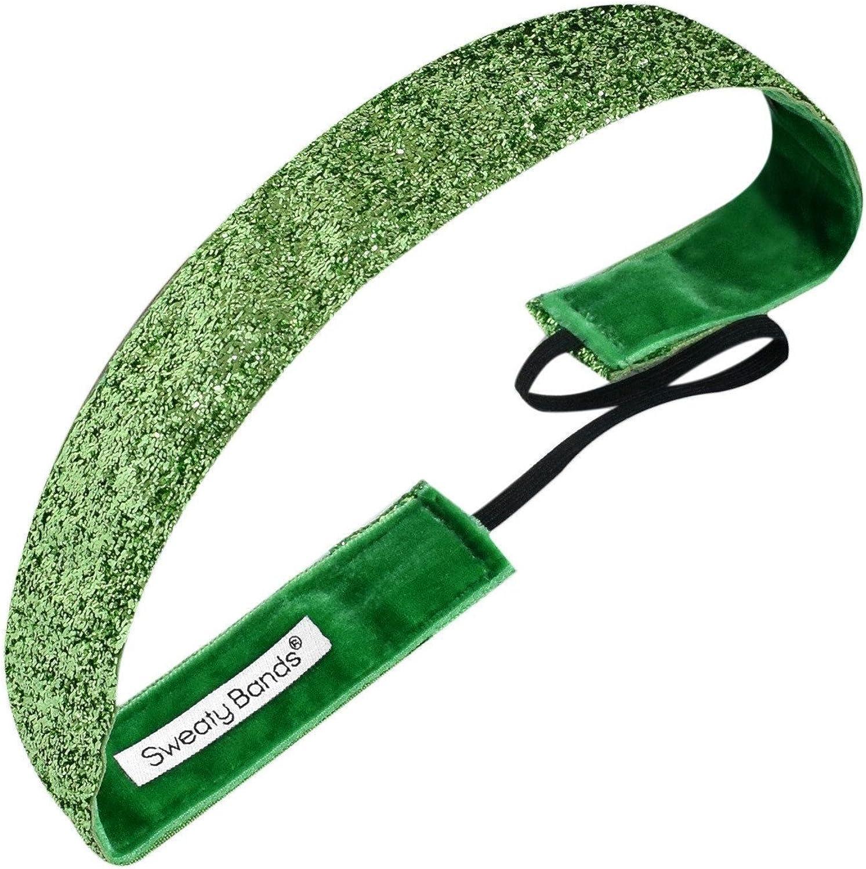 Sweaty Bands Viva Diva Headband, Lime Green Sparkle, 1-Inch