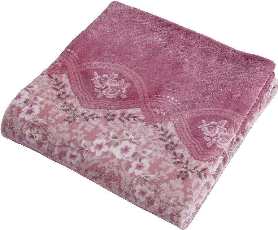 味起きろ引き付ける西川(Nishikawa) 掛けふとんカバー ピンク シングルロング 洗える あったか 掛け布団カバー 毛布にもなる ズレにくい FN-FL-SL