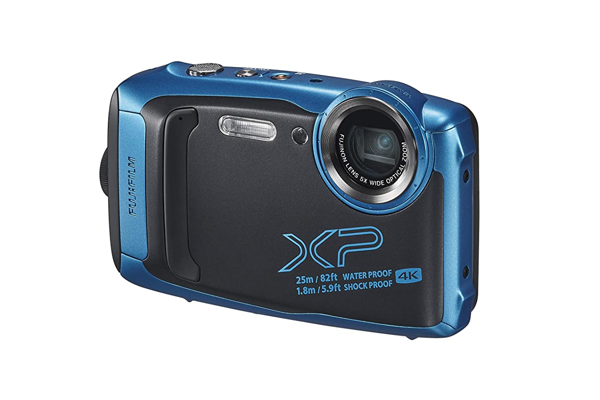 学んだ堤防予測FUJIFILM 防水カメラ XP140 スカイブルー FX-XP140SB