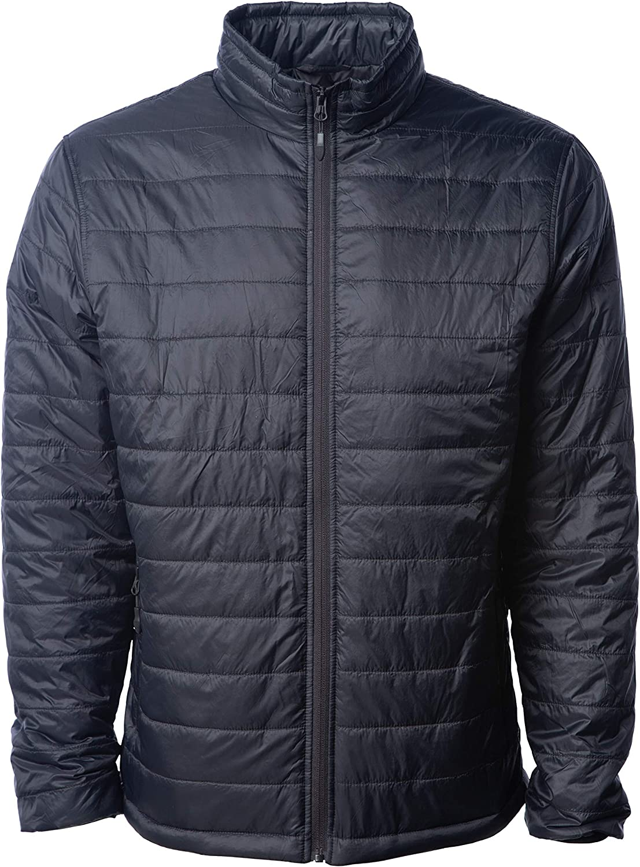Global Blank Men's Lightweight Water-Resistant Packable Down Alternative Jacket