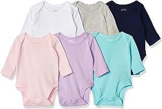 Amazon Essentials Unisex Baby 6-Pack Long-Sleeve Bodysuit, 6er-Pack
