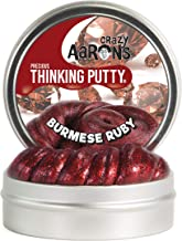 Crazy Aaron's Thinking Putty (1.6 oz) Precious Metals - Burmese Ruby - Soft Texture, Never Dries Out