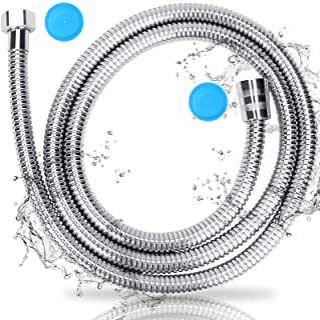 shower hose シャワーホース、交換、アタッチメント、コネクタ、防爆、リークプルーフ、プレミアム耐久性のあるシャワーホールは、360度、無料のインストール、長さ200 cm(2 m)回転するようにタンリングを防ぐ