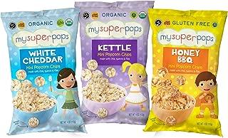 MySuperPops Organic Mini Popcorn Chips (Gluten Free, Nut Free) (Variety Pack)