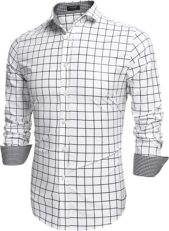 * Best Value * Men's Plaid Check Shirt. High quality, can be worn casually after the costume party.