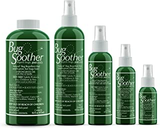 Bug Soother Spray Large Family Pack - Natural Mosquito, Gnat and Insect Deterrent & Repellent with Essential Oils - Safe for Adults, Kids, Pets, Environment - Made in USA