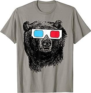 Bear 3D Glasses T-Shirt funny sarcastic novelty humor cool T-Shirt