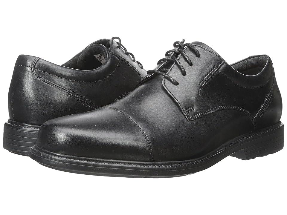 Rockport Charles Road Cap Toe Oxford (Black Leather) Men