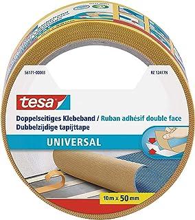 tesa Dubbelzijdige Tapijttape Universal - Multifunctionele vloertape, ook voor hobby's - Vloerbedekkingstape voor tapijt -...