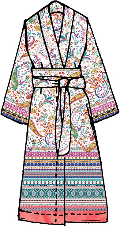 Bassetti Granfoulard Femmes-Kimono Burano r1 rose d/'ornement baumwollsatin