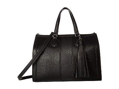 Steve Madden Bjean (Black/Black) Tote Handbags