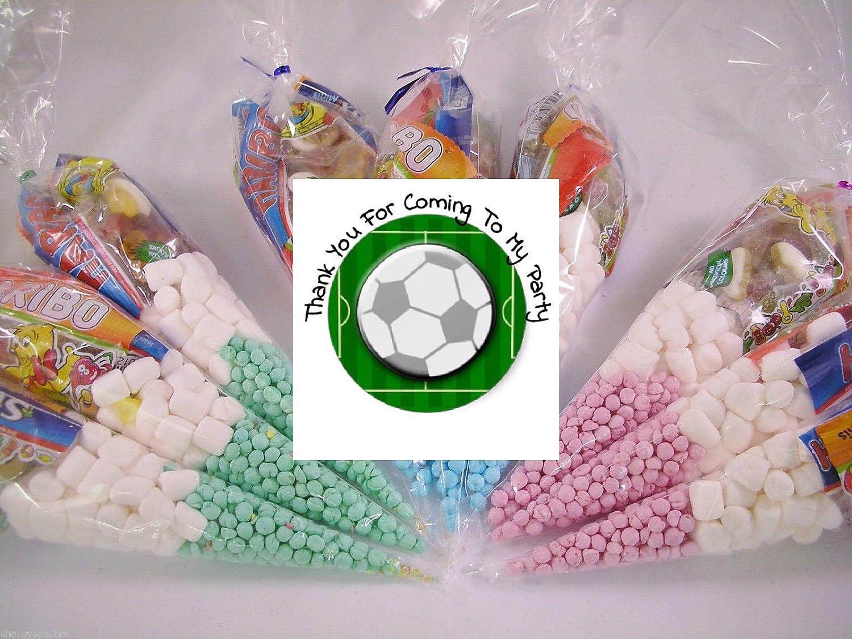 20x Fuball Mottoparty Pre gefüllt Sweet Zapfen Kids Party Taschen Kinder Geburtstag