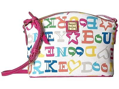 Dooney & Bourke Doodle Suki Crossbody (Multi/Fuchsia Trim) Cross Body Handbags
