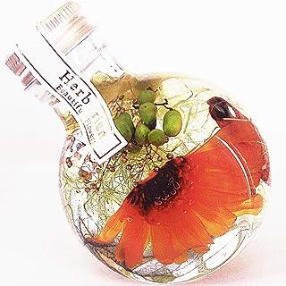 【Amazon.co.jp 限定】ハーバリウム プリザーブドフラワーLira 高さ9.5cm ギフトボックス入り 丸瓶 プレゼント ギフト 贈り物 母の日 お祝い (ガーベラオレンジ)