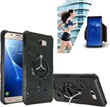 Corresponding Sports Arm band with Purchase of Detachable Kickstand Phone Case Shock Proof Edge Cover for Samsung J7 2017 SKY PRO J7 PERX J7 V (Black)