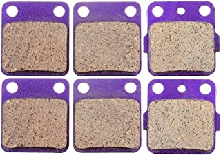 ECCPP FA54 Brake Pads Front and Rear Carbon Fiber Replacement Brake Pads Kits Fit for 1990-2006 Yamaha Banshee 350,2003-2006 Blaster 200,2011 125,1989-2004 Warrior 350,1995-2005 Wolverine 350