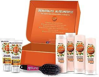 Sunsilk Confezione Regalo Ricarica Naturale Olio d'Argan & di Mandorle: 2 Shampoo 250 ml, 2 Balsamo 200 ml, 2 Trattamenti ...